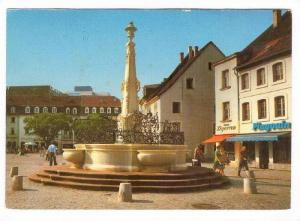 Landeshauptstadt Saarbrucken, Brunnen am St Johanner Markt, Saarland, Germany...