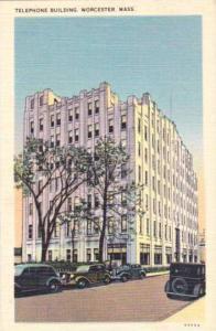 Exterior, Telephone Building,Worcester,Massachusetts,30-40s