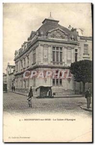 Old Postcard Bank Caisse d & # 39Epargne Rochefort sur Mer
