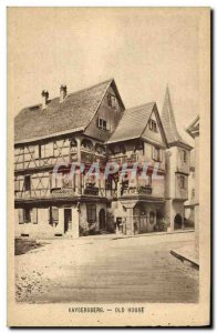 Old Postcard Kaysersberg Old House