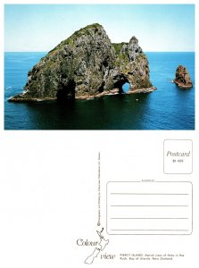 Piercy Island, Aerial view of Hole in the Rock, Bay of Islands, New Zealand