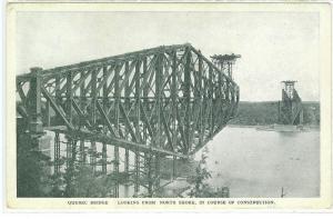 Quebec Bridge in Construction