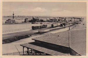 Egypt Suez Canal Bird's Eye View on Port Tewfik 1933