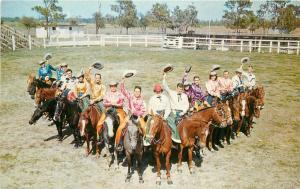 Amusement Silver Spurs Horseback Quadrille 1950s Postcard US Colorprint 12707