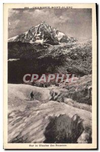 Old Postcard Chamonix Mont Blanc In the Bossons glacier