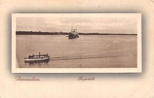 German East Africa Tanzania Dar Es Salaam, Daressalam Hafenbild, Ship, Boat