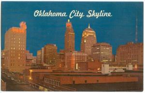 USA, Oklahoma City Skyline, unused Postcard