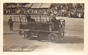 Fire Related Firemen's Parade Labor Day 1909 Reading, Pennsylvania, USA