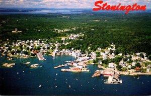 Maine Deer Isle Stonington Aerial View