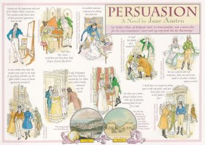 Persuasion Jane Austen Book Giant Rare Postcard