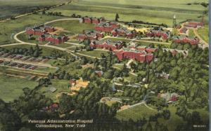 Aerial View Veterans Administration Hospital - Canandaigua NY, New York - Linen