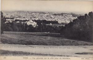 TUNIS .- Vue generale sur la ville prise du Belvedere , 00-10s