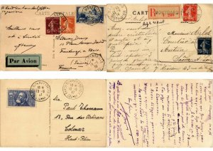 FRANCE POSTAL HISTORY 1200 COVERS CPA Mostly 1900-1940 PERIOD in BOX ! (L2677)