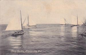New Jersey Atlantic City Sloop Yachts 1908