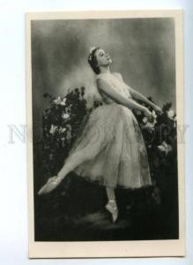 140642 ULANOVA Russia BALLET Star DANCER GISELLE Old PHOTO