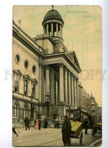 150752 HOLLAND ROTTERDAM Stadhuis TRAM Vintage postcard