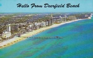 Florida Hello From Deerfield Beach Showing Fishing Pier