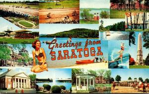New York Greetings From Saratoga Springs Multi View