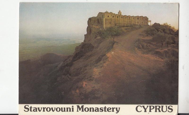 BF25102 stavrovouni monastery cyprus   front/back image