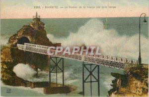 Old Postcard Biarritz The Rock of the Virgin by Big Time
