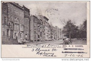 Commonwealth Avenue From Massachusetts Avenue Boston Massachusetts 1906