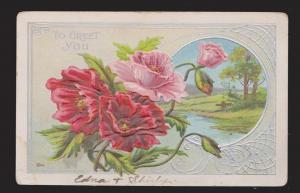 General Greetings - Flowers - Used 1913 - Embossed