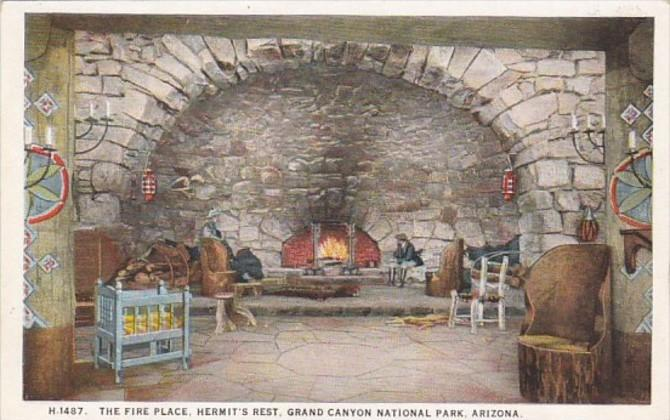Arizona Grand Canyon The Fire Place Hermit's Rest Fred Harvey