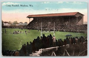 Madison Wisconsin~Camp Randall Football Field Game~Fans on Cheap Bleachers~1915