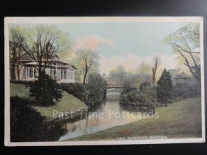 Derbyshire: Buxton THE GARDENS, Old Postcard