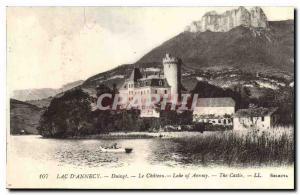 Old Postcard Lake Annecy Duingt Le Chateau