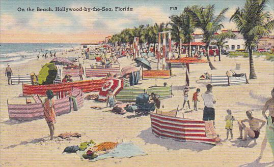 Florida Hollywood Beach On The Beach Hollywood By The Sea Curteich
