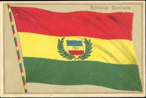 bolivia, National FLAG (1910s) Embossed