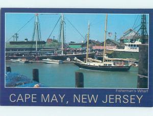 Unused 1980's BOAT DOCKED AT MARINA Cape May New Jersey NJ F4271