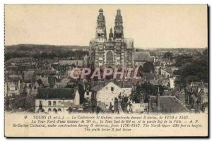 Old Postcard The Cathedral St Gatien Tours