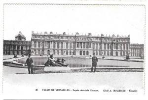 France Versailles Facade Terrasse Vtg Bourdier Postcard
