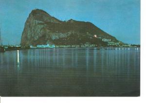 Postal 050143 : Vista nocturna del Pe?n de Gibraltar