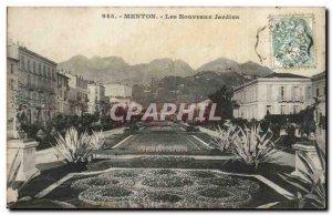 Menton - The New Gardens - Old Postcard