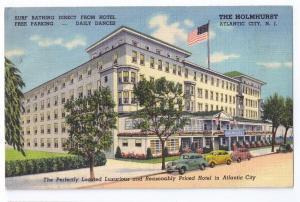 Atlantic City NJ Holmhurst Hotel 1946 Curteich Linen