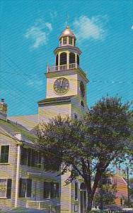 Massachusetts Vineyard Haven Nantuckets Town Clock Where The Curfew Still Rin...
