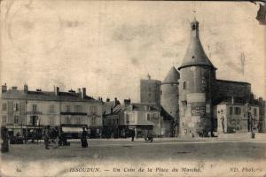 France Issoudun Un Coin de la Place du Marche 02.28