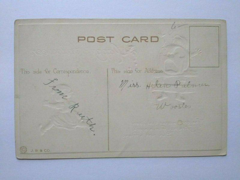 Vintage Halloween Postcard Bergman 1623 Children Antique Original Non Posted