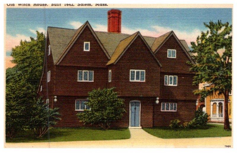 Massachusetts Salem ,  Old Witch House built 1642