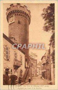 Postcard The Old Vichy Clock Tower (XVth Century)