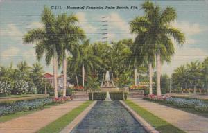 Florida Palm Beach Memorial Fountain 1947 Curteich