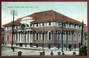 2219 - SALT LAKE CITY Utah Postcard 1910s Masonic Temple