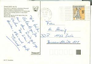 Czech Republic, Spindleruv Mlyn Krkonose, 1985 used Postcard