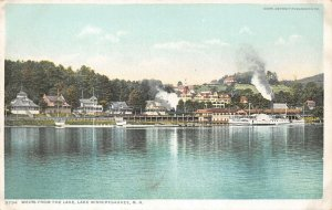 LPS02 Lake Winnipesaukee New Hampshire View of Weirs from Lake Postcard