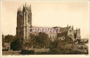 Postcard Old Beverley Minster from the S W