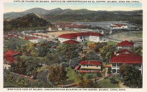 Bird's-Eye View of Balboa, Canal Zone, Early Postcard, Unused