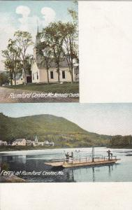 RUMFORD CENTER, Maine, 1901-07: Methodist Church & Ferry